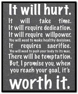 It will hurt. It will take time.