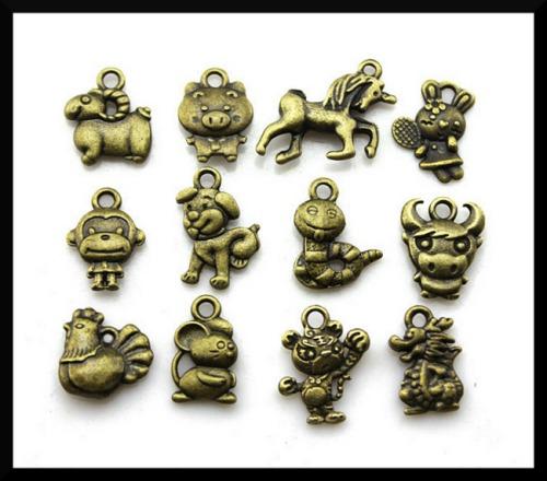 Handmade Chinese Zodiac Feng Shui Charms made of Tibetan Silver